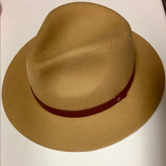 1b64b751 Saks Fifth Avenue Accessories | Wool Camel Colored Fedora Hat | Poshmark